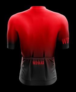 Winaar BloodMoon Wielershirt korte mouw - Heren - Rood-Zwart