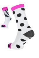 Winaar BWP dot stripe mix - Wit/Roze met Zwarte Stippen & Strepen