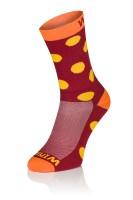 Winaar BO dot - Rood/Oranje Met Gele Stippen