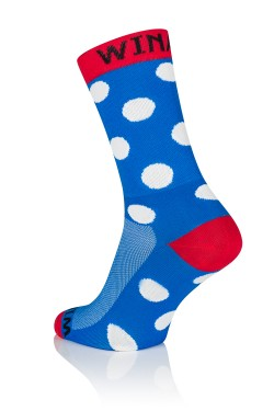 Winaar BRW dot - Blauw/Rood Met Witte Stippen