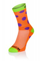 Winaar OGV dots - Oranje/Groen Met Paarse Stippen