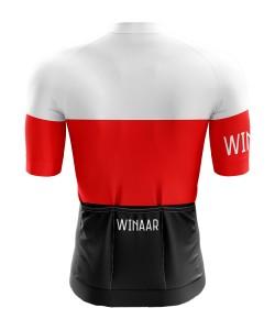 Winaar BWR Wielershirt korte mouw - Heren - Zwart-Rood-Wit