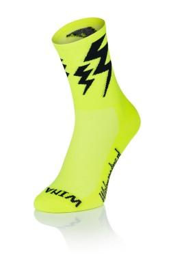 Lightning Socks - Fluo Geel