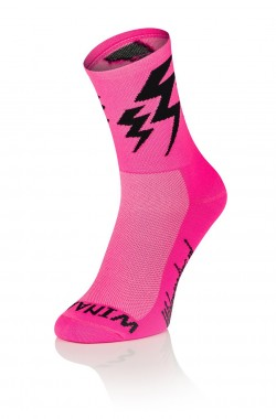 Lightning Socks - Fluo Roze