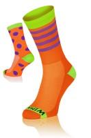 Winaar OGV dot stripe mix - Oranje/Groen Met Paarse Stippen & Strepen