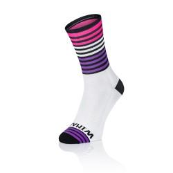 Winaar OMG3 - Wit Zwart met paars en fluo roze strepen