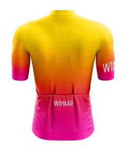Winaar Sunburst Wielershirt korte mouw - Heren - Geel-Oranje-Roze