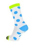 Winaar WBF dots - Wit/Fluo Geel Met Blauwe Stippen