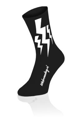 Lightning CX Run Socks - Black