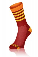 Winaar BO stripes - Rood/Oranje Met Gele Strepen