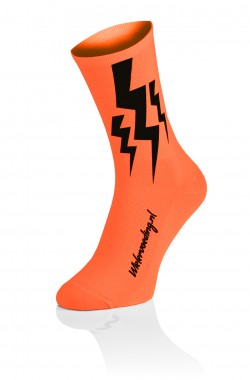 Lightning Socks - Fluo Oranje